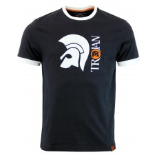 Trojan Records MOD Helmet Logo Ringer Tee Shirt Black