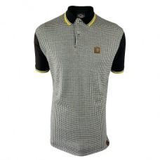 Trojan TR/8569 Houndstooth Black Polo Shirt Men's