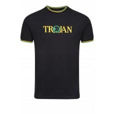 Trojan TC 1011 T-Shirt Black Green/Yellow