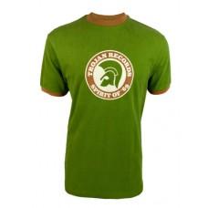 Trojan 1006 Mens Spirit Of 69 Ringer T Shirt Green