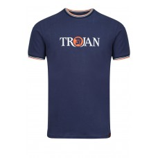 Trojan TC 1011 Helmet logo T-Shirt Navy/Orange