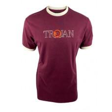 Trojan 1004 Mens Outline Logo T Shirt Port