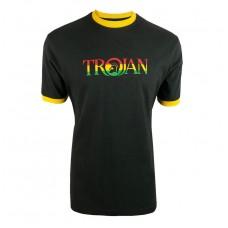 Trojan 1014 Mens T Shirt Rasta Logo Black