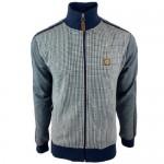 Trojan TR/8569 Houndstooth Navy Polo Shirt Men's