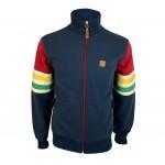 Trojan TR/8626 'Marley' Stripe Sleeve Track Jacket Navy