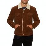 Wrangler 124mj Sherpa Jacket  Ginger Cord