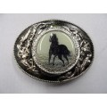 Black Horse Belt Buckle