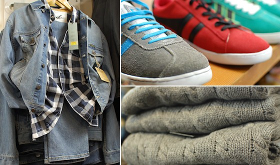 o Mens trainers and jumpers